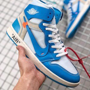 "OFF-WHITE x Air Jordan 1 ""UNC"" North Carolina Blue"